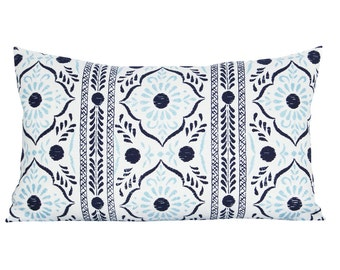 Rangila lumbar pillow cover in Lapis