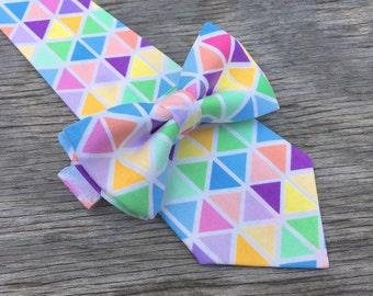 pastel bowtie, easter bowties, easter necktie, easter ties, mens pastel tie, pastel photoshoot, mens easter tie, boys easter tie