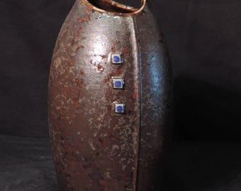 Metallic Glazed Prairie Cusp Vase