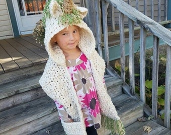 Unicorn Hooded Scarf crochet