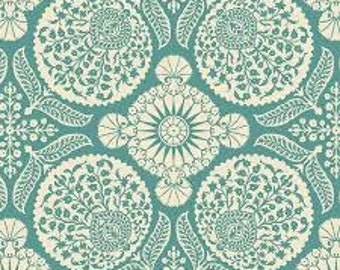 90353 Joel Dewberry Flora - Bazaar in eucalyptus color Home Dec fabric - 1 yard SAJD031