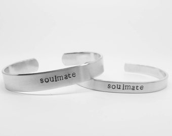soulmate: SET of two aluminum cuffs for soulmates