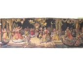RESERVED Tapestry Dance Ball Scene Woven Large Made in Belgium