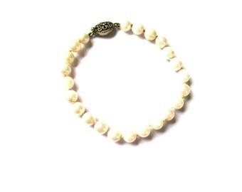 Bracelet Genuine Pearl Minimalist Silver Clasp