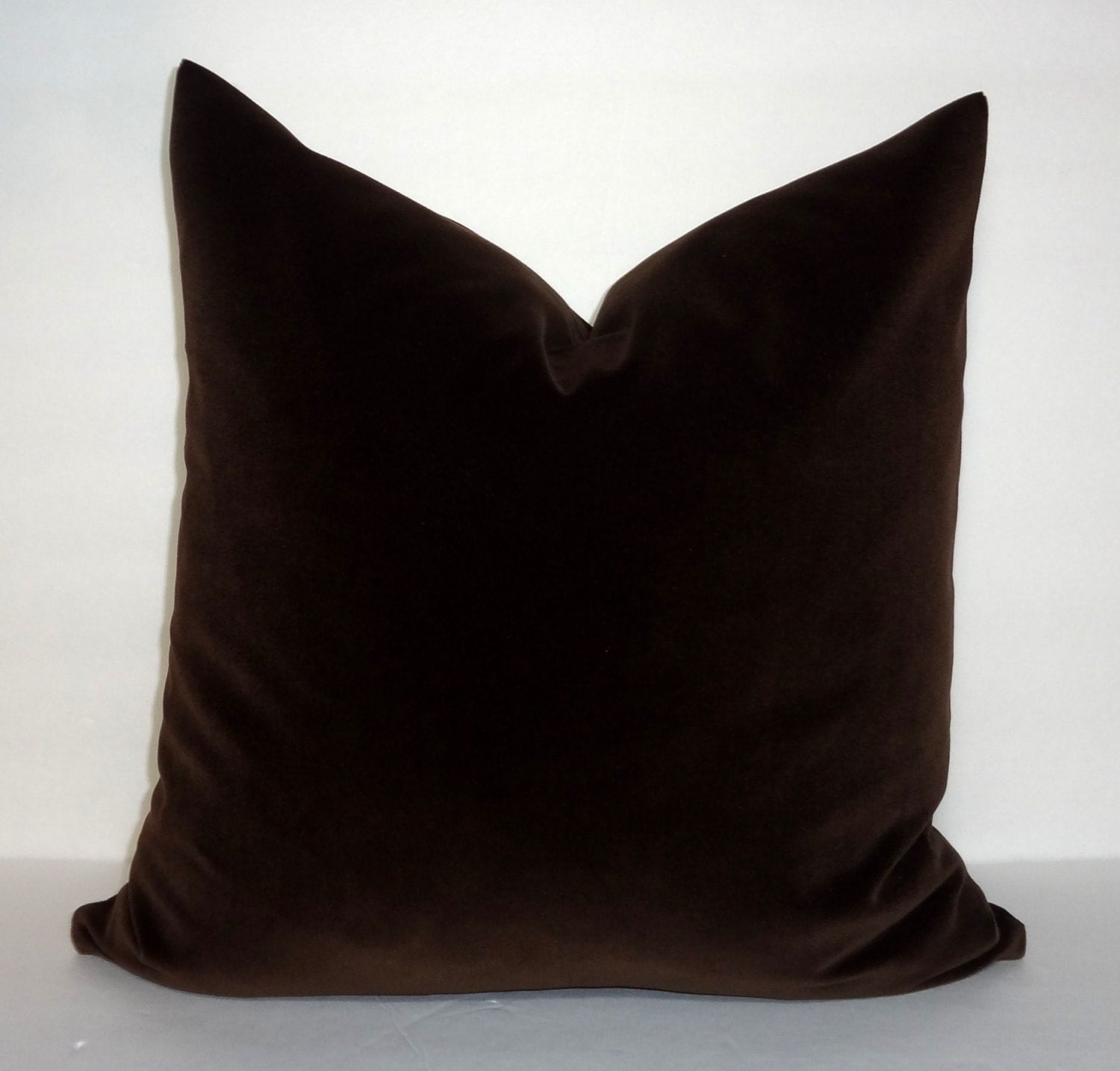 Dark Brown Throw Pillow : Dark Brown Velvet Pillow Cover Throw Pillow Cover Decorative