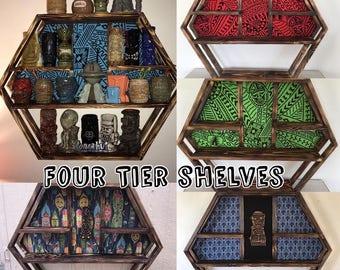Four Tier Mug Shelves