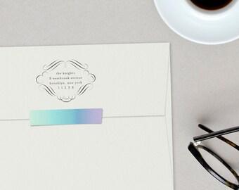 Flourish Custom Return Address Stamp