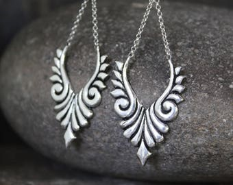 Isis Silver Earrings