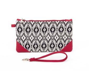 Wristlet wallet clutch purse bag,Travel wallet,small wristlet  purse for holding smartphone,cash, credit cards, coins,