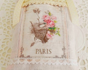 Shabby & Chic Paris Themed Lavender Sachet