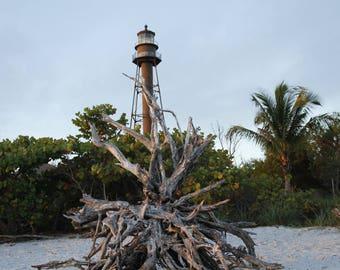Sanibel Lighthouse Photograph, Free Shipping, Sanibel Island Lighthouse Signed Print, Florida Coastline Wall Art, Sanibel Art
