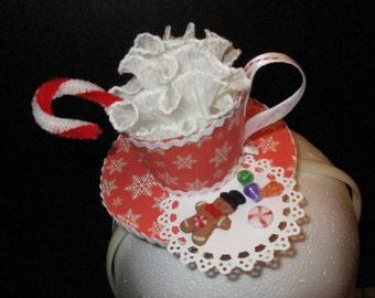 Hot Cocoa and Christmas Cookies Fascinator Headband