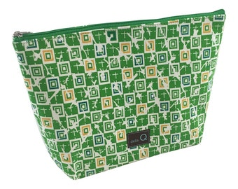 Della Q Large Cotton Zip Pouch in A Variety of Limited Edition Fabrics 1103-1