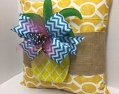 Burlap Pillow Wraps - Pineapple Paradise