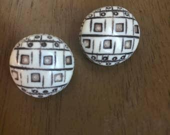 Vintage southwestern clip-on earrings