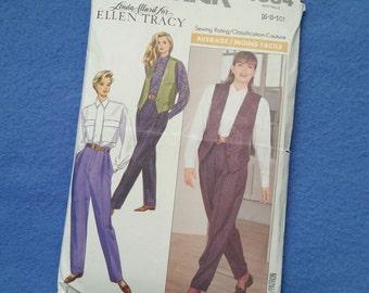 Uncut Butterick Vintage Sewing Pattern 4384 - Misses' Shirt, Vest and Pants - size 6 8 10
