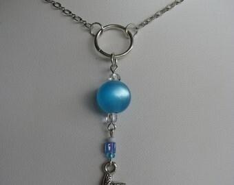 Turquoise Blue Necklace, Blue Long Necklace, Long Chain Necklace, Starfish Necklace, Layering Necklace