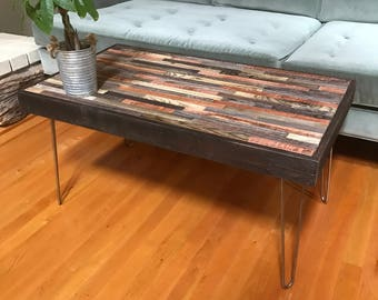 SALE - Various Sizes of Barnwood Coffee and End Tables - Industrial Furniture - Modern Reclaimed Wood, Rustic Wood and Vintage Hairpin Legs