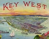 Key West Vintage Illustration digital download