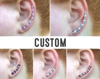 Ear Sweeps | Ear Sweep Earrings | Ear Sweep Wraps | Sweep Earrings | Ear Sweep | Ear Sweep Wrap | Small Ear Sweeps | Tiny Ear Sweep