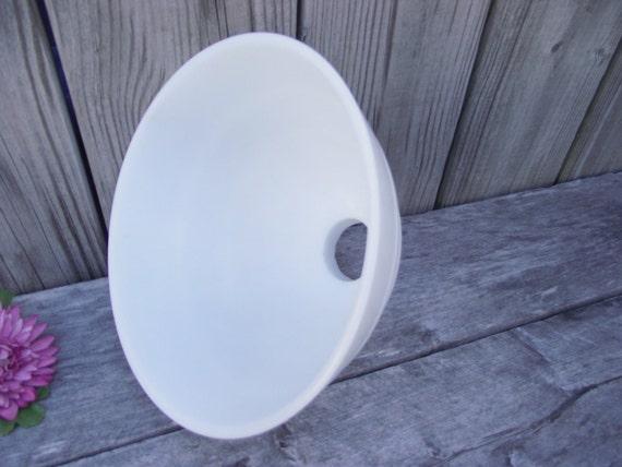 MILK GLASS Art Deco Lamp SHADE Diffuser Reflector - Replacement Lampshade  Light Globe - Retro Torchiere Banquet - Border