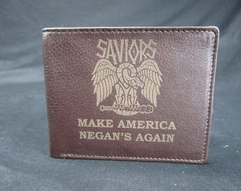 WALKING DEAD NEGAN Premium Leather Wallet