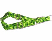 Green Squares Dog Step-in Harness