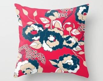 Pop Florals in Liberty Pillow