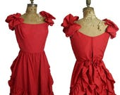 on sale 1970s Red Gown