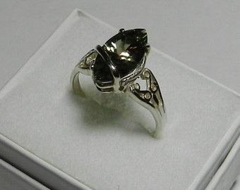 Oregon Sunstone  Ring, Teal Blue Green  Marquise !!    #20