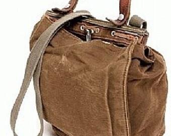 Motorcycle Bag | Bread Bag | Vintage Swiss Fly Fishing Bag | Vintage Swiss Canvas Bike Bag