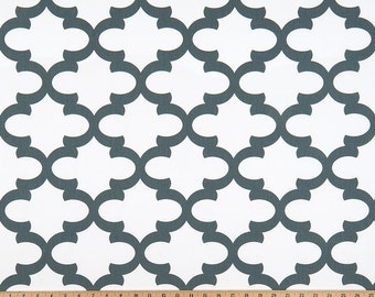 Dark Gray on White Lattice Fynn Curtains  Rod Pocket  63 72 84 90 96 108 or 120 Long x 24 or 50 Wide