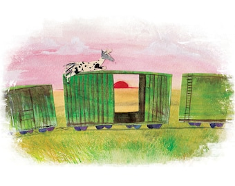 Sunset Train Ride - Reginald - Digital Print