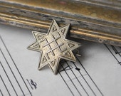 "Vintage Latvian patriotic badge,pin.""Auseklis"""