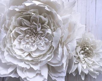 """Giant Crepe Paper Peony 8"""" - 30"""""""