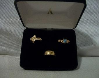 Vintage Avon 1993 Ring Trio Size 5