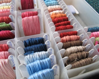Vintage Embroidery floss collection (65 colours) / cotton embroidery floss collection