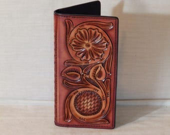 Handmade Roper Wallet /  Checkbook Cover