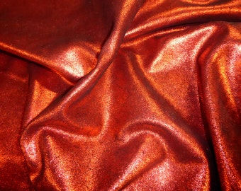 """Leather 8""""x10"""" Vintage Crackle RED Metallic  on BLACK Calfskin 3.5-4 oz / 1.4-1.6 mm PeggySueAlso™ E2844-01"""