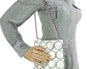Stylish Small Vintage 60s Paco Rabanne Space Age Style Handbag