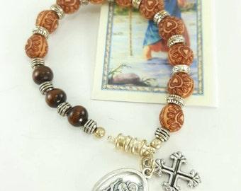 Steering wheel rosary Saint Christopher travels auto rosary