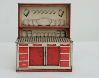 1940s/50s Tin Kitchen Dresser Toy