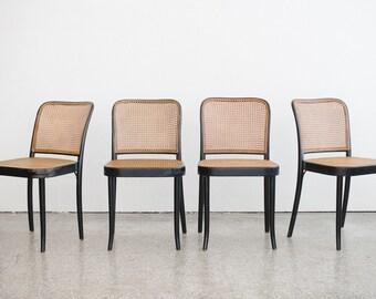 4 Mid Century Prague Chairs