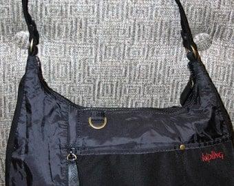 """KIPLING Black Shoulder Hobo Bag """"Honor Pioneers"""""""