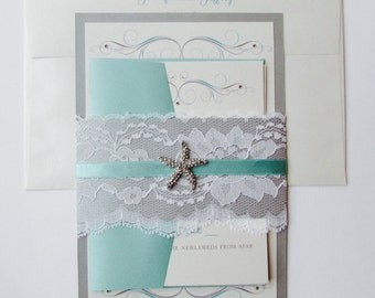 Jennifer and Jeffrey//Destination Wedding Invitation