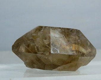 "Double Terminated Quartz Crystal with Lodolite Inclusions Excellent Collectible Display Specimen 80 grams 2.45"" Minas Gerais Brazil Natural"