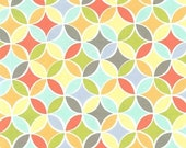SHOP CLOSING SALE Michael Miller fabric by the yard Tile Pile Multi 1 Yard