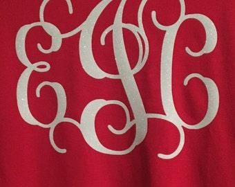 Glitter Monogram T-shirt