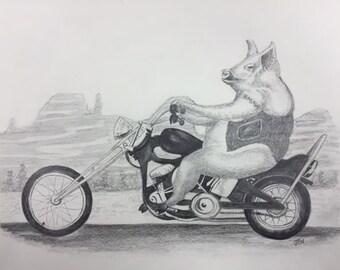 Hog on Motorcycle