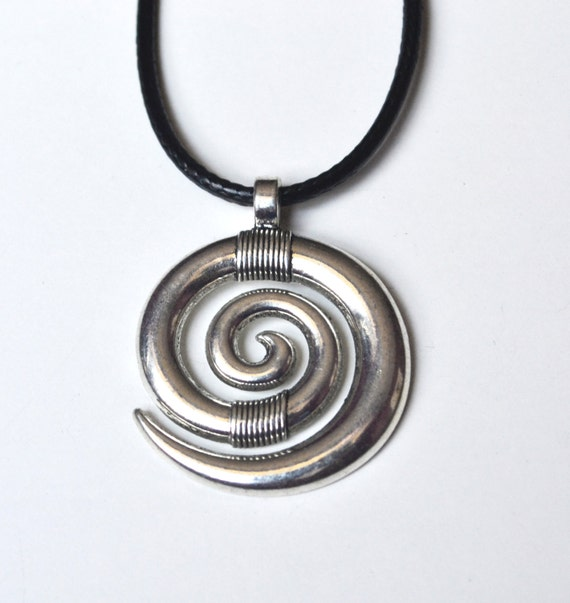 Spiral Necklace, Unisex Spiral Necklace, Yoga Spiral Necklace, Spiral Jewelry, Mens Spiral Necklace, Journey of Life, Symbol Necklace, Gift